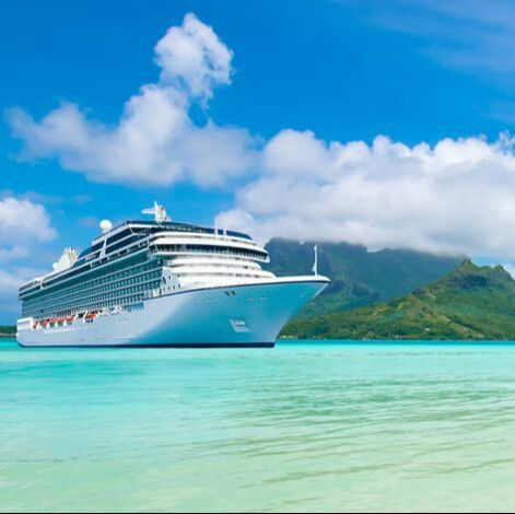 cruise ship in ocean